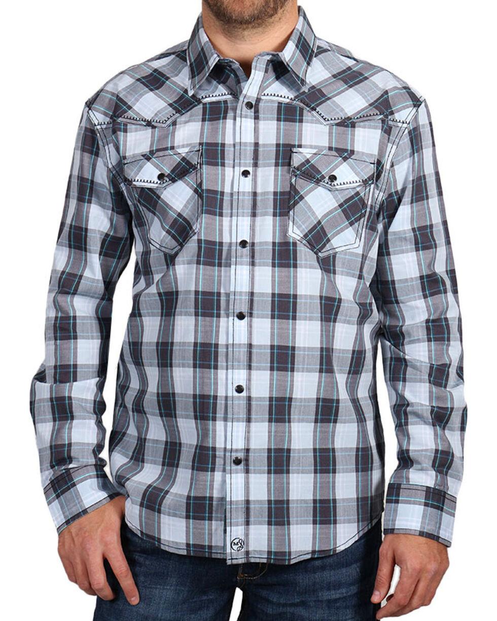 Moonshine Spirit Men's Plaid Print Long Sleeve Shirt, , hi-res