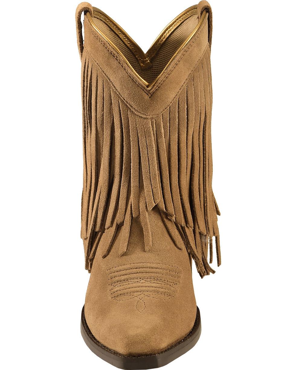 Ariat Girls' Gold Rush Rustic Brown Fringe Western Boots, Bark, hi-res