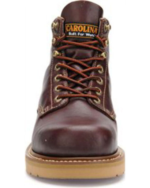 "Carolina Men's 6"" Broad Toe Wedge Work Boots, Black Cherry, hi-res"