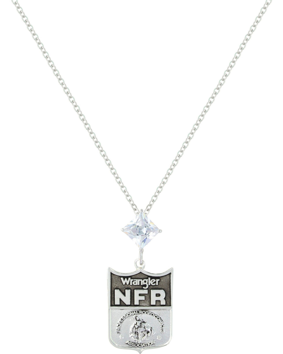 Montana Silversmiths 2016 WNFR Shield and Star Necklace, Silver, hi-res