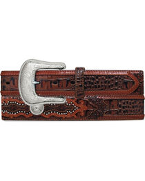 Tony Lama Men's Southern Caiman Underlay Belt, , hi-res