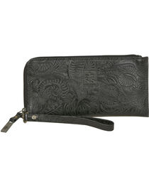 STS Ranchwear Black Floral Clutch Wallet, , hi-res