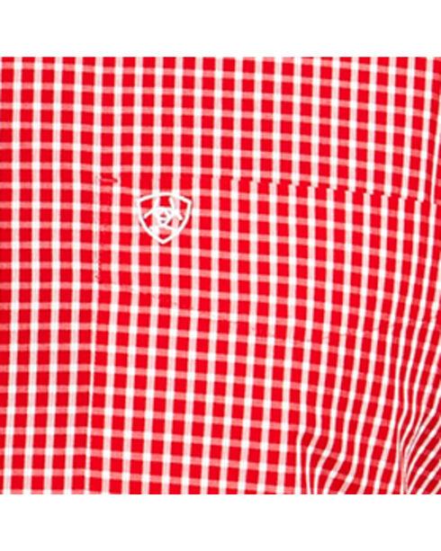 Ariat Men's Red Irving Short Sleeve Shirt , Red, hi-res