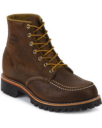 """Chippewa Men's 6"""" Lace-Up  Suede Field Boots, , hi-res"""