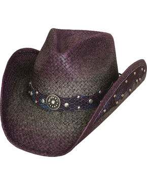 "Bullhide Women's ""Where Are You?"" Straw hat, Wine, hi-res"
