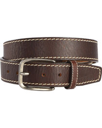 Justin Men's Brown Bison Boulevard Western Belt , , hi-res