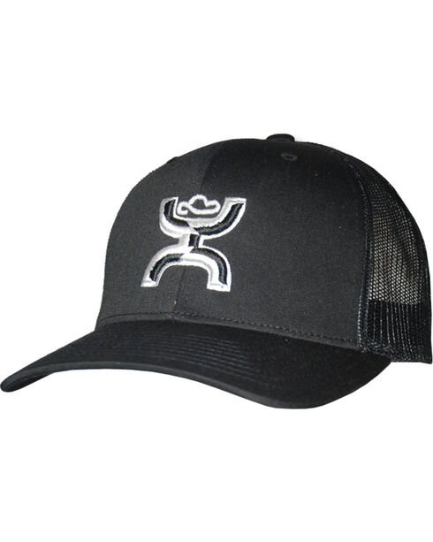 Hooey Youth Boys' Chi Six Panel Trucker Cap, Black, hi-res