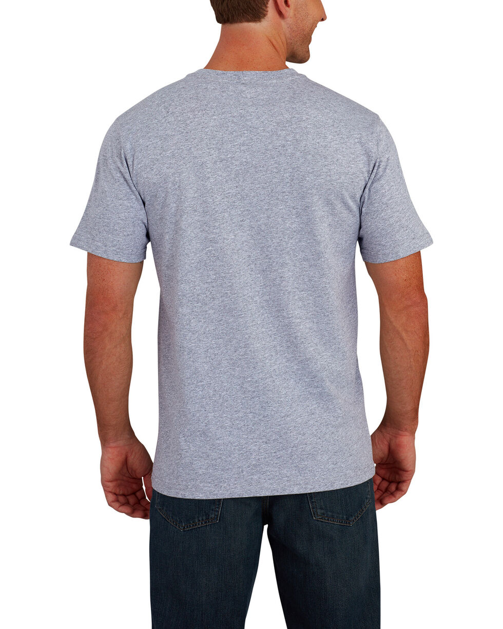 Carhartt Men's Lubbock American Flag Branded C Graphic Short Sleeve T-Shirt, Grey, hi-res