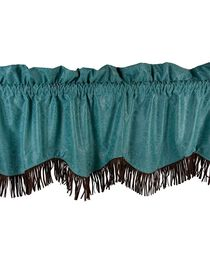 HiEnd Accents Cheyenne Tooled Faux Leather Valance, , hi-res