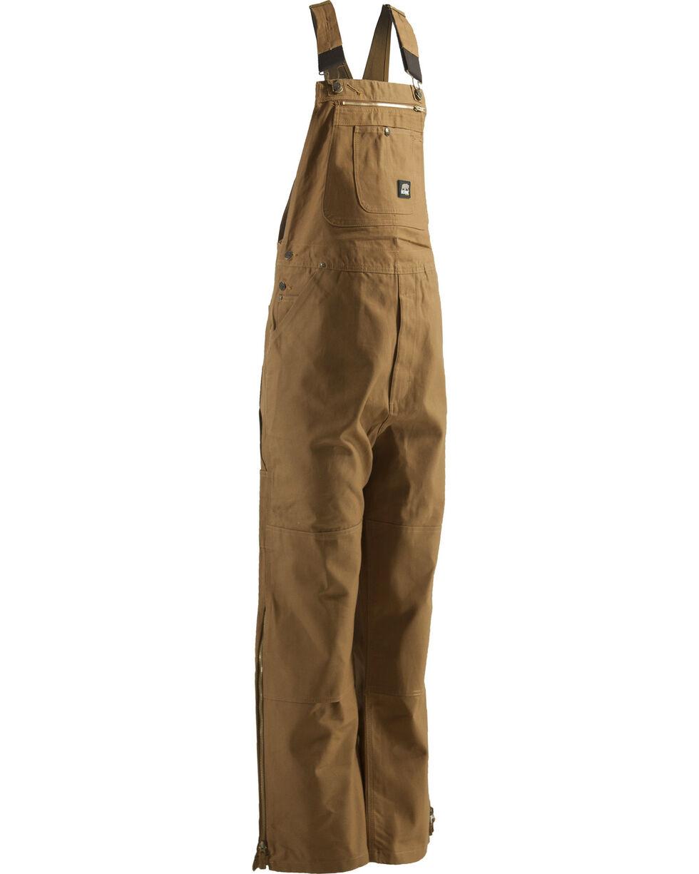 Berne Men's Original Unlined Duck Bib Overalls - Short, Brown, hi-res