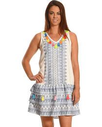 Young Essence Women's Drop Waist Dress with Tassels, , hi-res