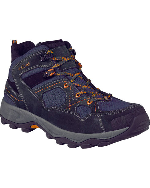 Red Wing Irish Setter Afton Work Hiker Work Boots - Soft Toe , Navy, hi-res