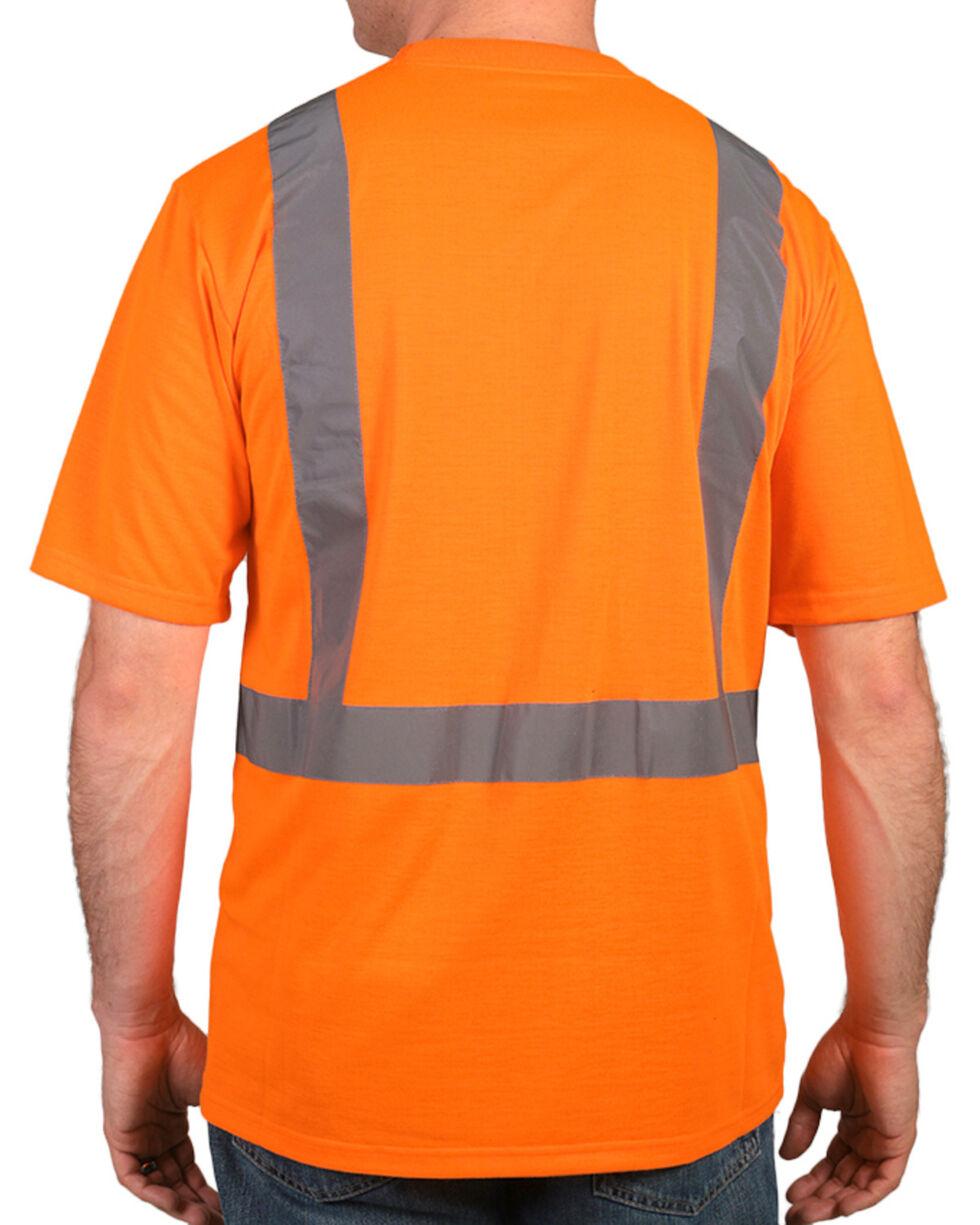 American Worker® Men's Short Sleeve High Visibility T-Shirt, Orange, hi-res