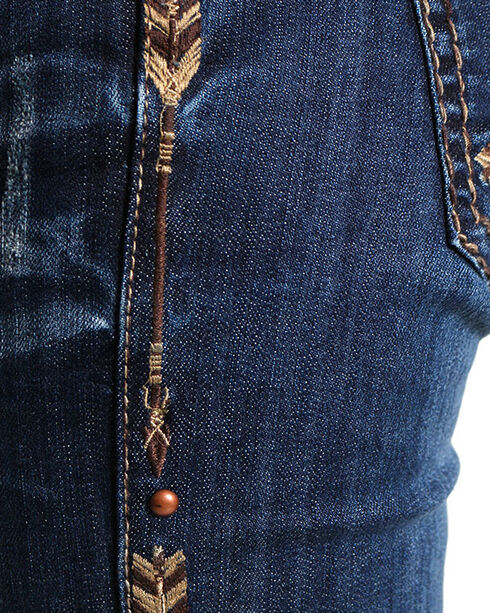 Cowgirl Tuff Women's Natural Patchmaker Jeans , Blue, hi-res