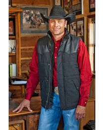 STS Ranchwear Men's Lucas Down Style Black Vest - Big & Tall - 2XL-3XL, , hi-res