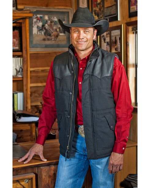 STS Ranchwear Men's Lucas Down Style Black Vest - Big & Tall - 2XL-3XL, Black, hi-res