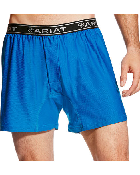 Ariat Men's Blue AriatTEK UnderTEK FreeFit Boxer , Blue, hi-res