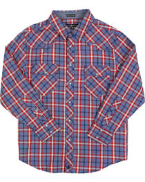Cody James® Boys' Plaid Long Sleeve Western Shirt, , hi-res