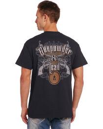 Cowboy Up Men's Black Gunpowder & Lead T-Shirt , , hi-res
