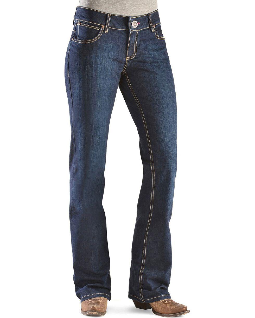 Wrangler Women's Booty Up Boot Cut Jeans, Denim, hi-res