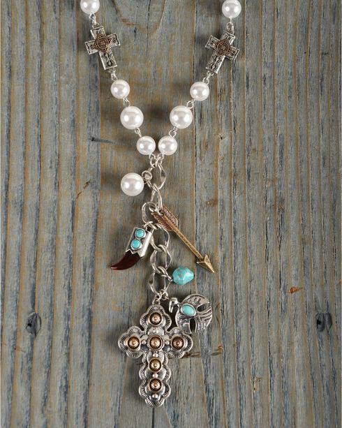 Shyanne Women's Cross Charm Necklace, Gold, hi-res