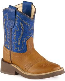 Old West Toddlers' Crepe Sole Cowboy Boots - Square Toe, , hi-res