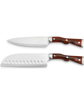 Big Sky Carvers Big Shot Fillet and Santoku Knife Set , Brown, hi-res