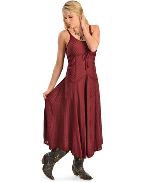 Honey Creek by Scully Women's Maxi Dress, Burgundy, hi-res