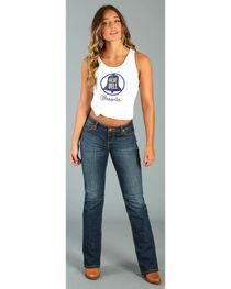 Wrangler Women's White Blue Bell Logo Tank Top , , hi-res
