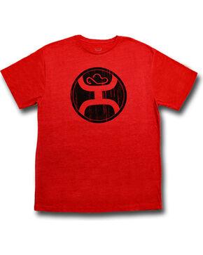 Hooey Men's 2.0 Short Sleeve Logo T-Shirt , Red, hi-res
