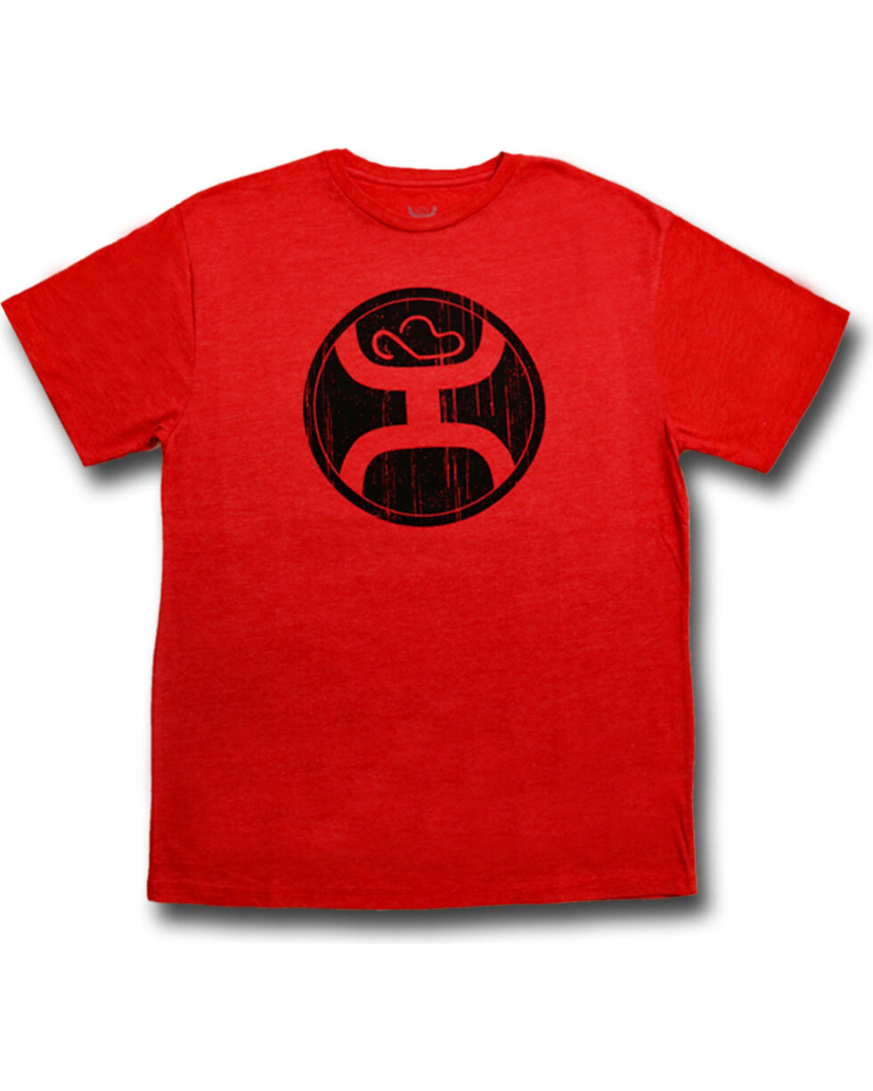 Hooey Men's 2.0 Short Sleeve Logo T-Shirt , Red, hi-res