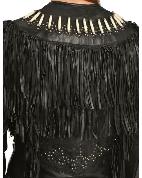 Liberty Wear Women's Fringe & Bone Leather Jacket, , hi-res