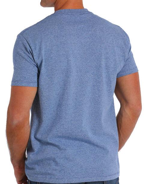 Cinch Men's Blue Basic Logo Short Sleeve Tee , Blue, hi-res
