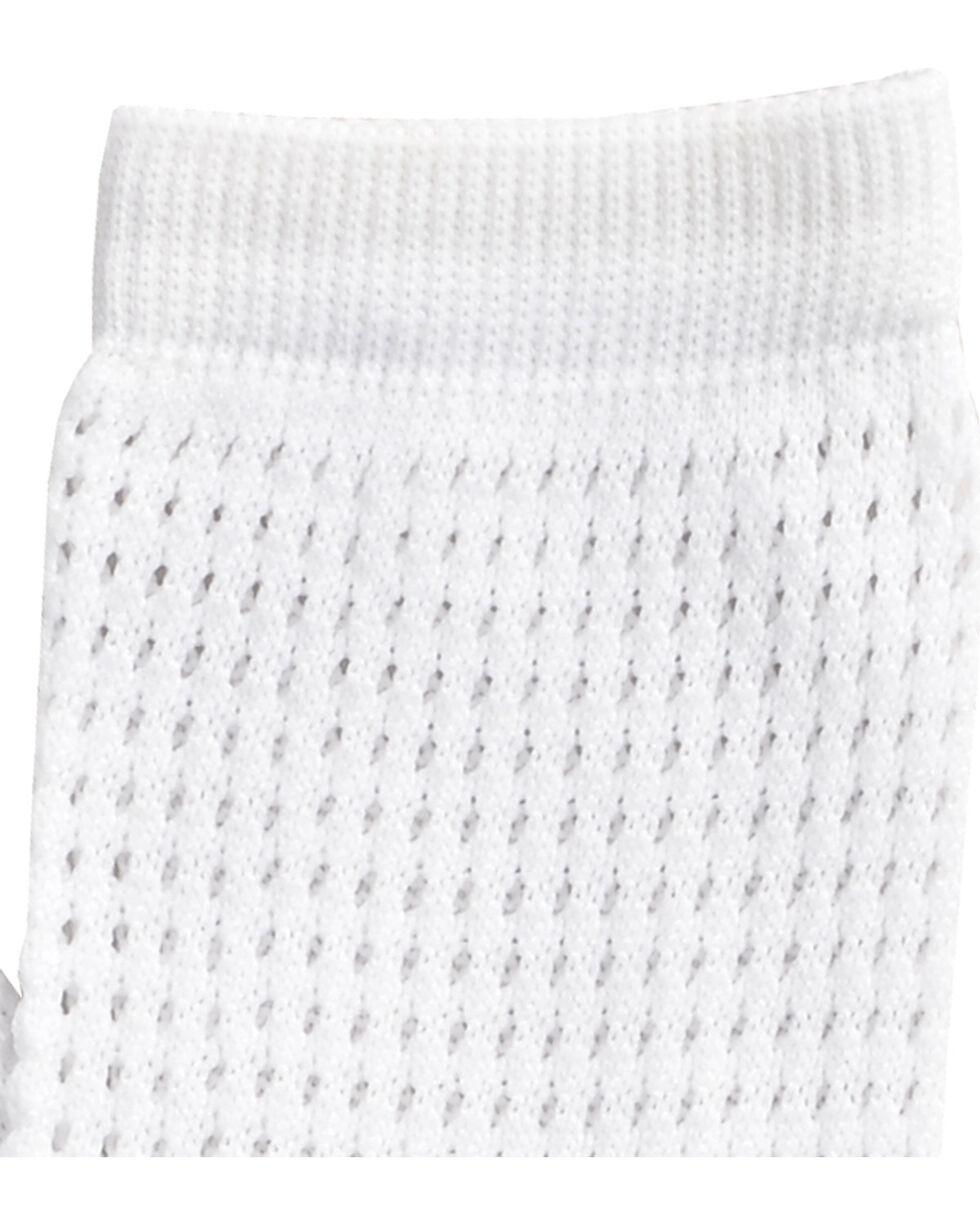 Shyanne White Mesh Crew Socks , White, hi-res