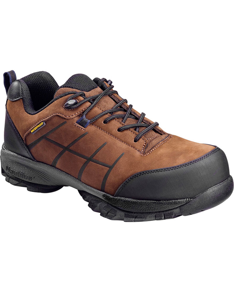 Nautilus Men's ESD Waterproof Work Shoes - Comp Toe, Brown, hi-res