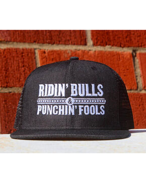 Dale Brisby Men's Ridin' Bulls & Punchin' Fools Cap , Black, hi-res