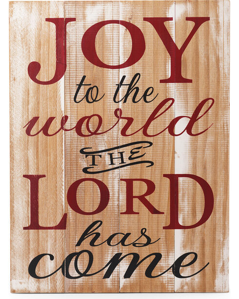 BB Ranch Joy to the World Wood Sign , Multi, hi-res