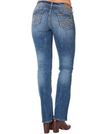 Silver Women's Suki Mid Slim Bootcut Medium Wash Jeans - Plus Size, , hi-res