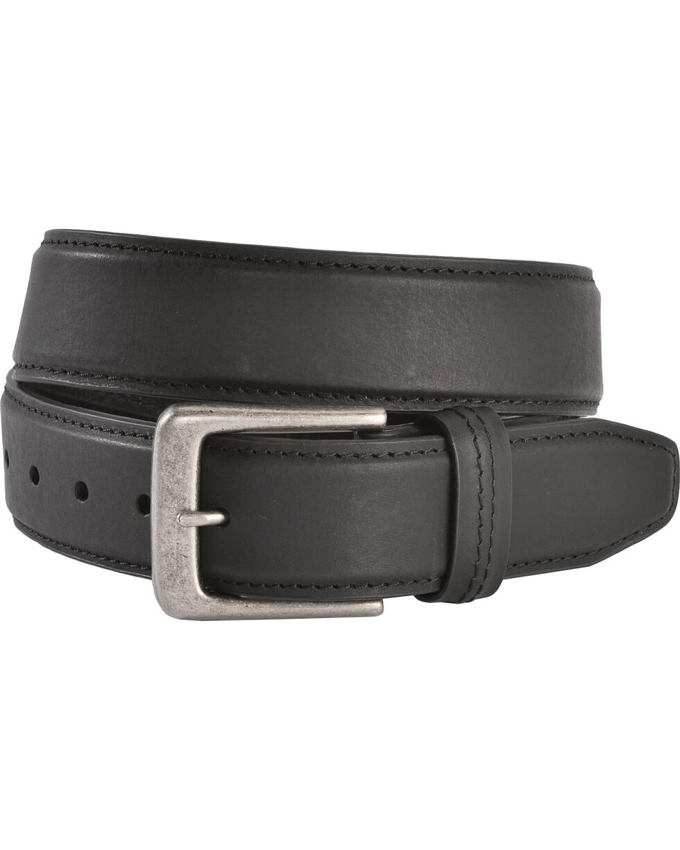 American Worker® Men's Classic Leather Belt, Black, hi-res