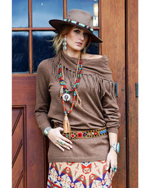 Tasha Polizzi Women's Brown Thoroughbred Tunic , , hi-res