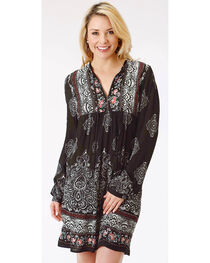 Roper Women's Floral and Paisley Print Long Sleeve Dress, , hi-res