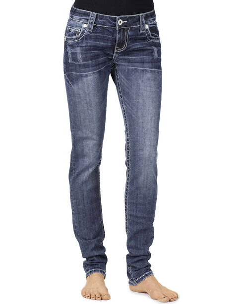 Stetson Women's Pixie Fit Skinny Jeans, Denim, hi-res