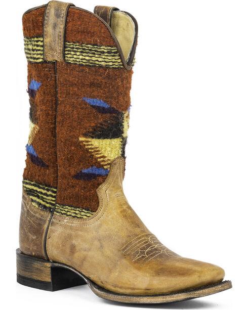 Stetson Women's Roxanne Aztec Western Boots, Brown, hi-res