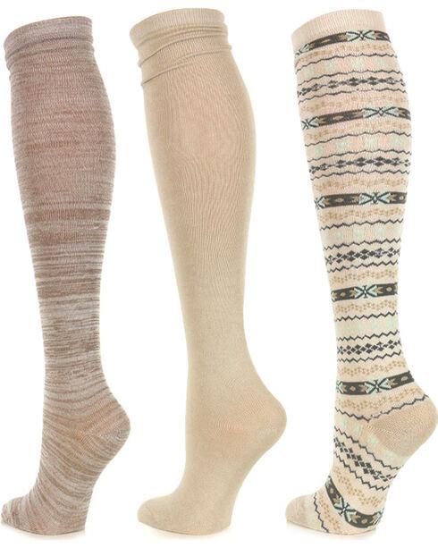 Shyanne® Women's Knee High Sock Set, No Color, hi-res