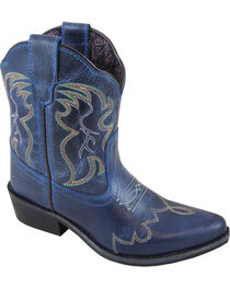 Smoky Mountain Girls' Blue Juniper Western Boots - Pointed Toe , , hi-res