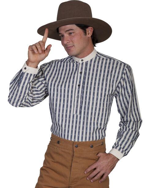 Rangewear by Scully Men's Diamond Striped Shirt, Blue, hi-res