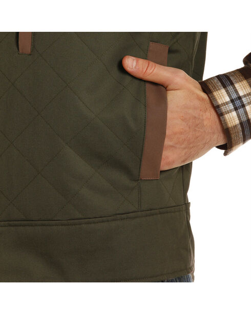 Powder River Outfitters Men's Brushed Twill Conceal And Carry Vest - Big & Tall, Hunter Green, hi-res