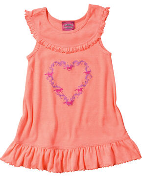 Cowgirl Hardware Infant/Toddler Girls' Heart Wreath Tank Dress, Pink, hi-res