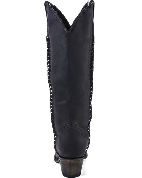 Lane Women's Plain Jane Western Round Toe Western Boots, Black, hi-res