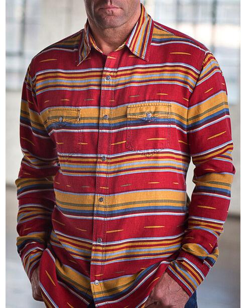 Ryan Michael Men's Brick Serape Western Shirt, Red, hi-res